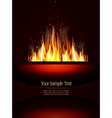 fire poster vector image vector image