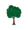 flat tree with green vector image