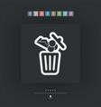 food trash icon vector image