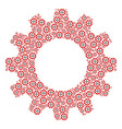 gear wheel composition of roulette casino chip vector image