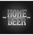 graphic home beer vector image vector image