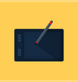 graphic tablet icon vector image vector image