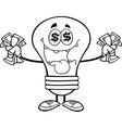 Greedy lightbulb vector image vector image