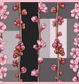 hand drawn sakura cherry seamless pattern vector image
