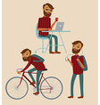 hipster lifestyle vector image
