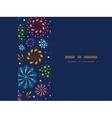 Holiday fireworks frame horizontal seamless vector image vector image