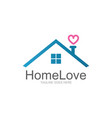 home love logo vector image