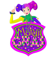 Lady and Mardi Gras Sign vector image vector image