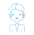 line tender man with elegant clothes and hairstyle vector image vector image