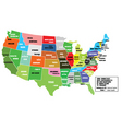 map of states of america vector image