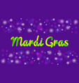 mardi gras theme banner or greeting card vector image vector image