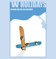 minimalist winter poster landscape vector image