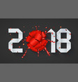 modern concept 2018 happy new year and gift vector image