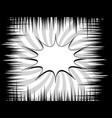 monochrome comic explosive concept vector image