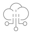 network thin line icon cloud vector image vector image