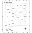 new mexico state administrative outline map vector image vector image