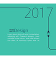 New Year 2017 with plug and socket vector image vector image