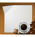 Paper design with cup of coffee vector image