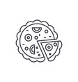 pizza line icon concept pizza linear vector image vector image