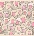 print with japanese macaque vector image vector image