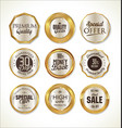 quality golden label collection 2 vector image vector image