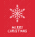 retro styled christmas card vector image vector image