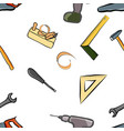 seamless pattern of tools vector image vector image
