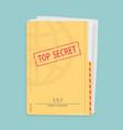 secret folder with documents vector image vector image
