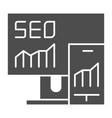seo solid icon gadgets vector image vector image