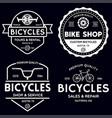 set vintage and modern bike shop logo badges vector image vector image