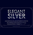 silver or chrome metallic font set letters vector image vector image