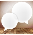 Speech bubble on wooden background plus EPS10 vector image