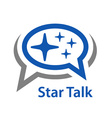 speech bubble star talk icon vector image vector image