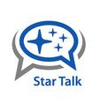 speech bubble star talk icon vector image vector image