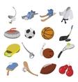 Sport cartoon icons vector image vector image