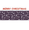 starry sky christmas vector image vector image