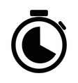 stopwatch icon design template eps10 vector image vector image