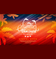 summer sale template banner abstract colorful vector image