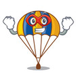 super hero parachute isolated with in the cartoons vector image