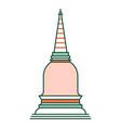 thai pagoda linecolor vector image vector image