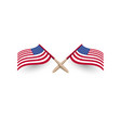 united states america windy waving flag crossed vector image vector image