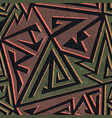 Urban color geometric seamless pattern vector image