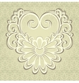 Vintage Card with Heart vector image vector image