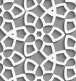 White geometrical floristic net on gray seamless vector image vector image