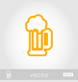 beer mug outline icon summer vacation vector image