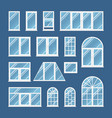 windows with transparent glass vector image