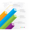3d infographic element vector image vector image