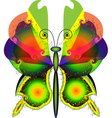 Abstract colorful decorative butterfly vector image