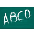 Alphabet on chalkboard Letters A B C D vector image
