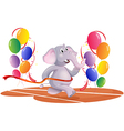 An elephant running with balloons vector image